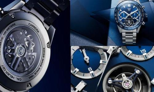 Blue and titanium for the TAG Heuer Carrera Heuer 02T