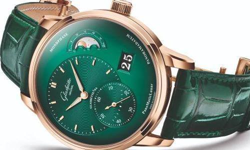 Glashütte Original: the PanoMaticLunar now in lush green