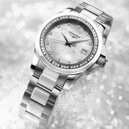LADIES DIAMOND CONQUEST (WHITE) by Longines