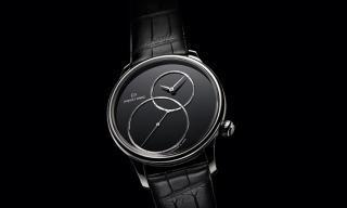 Jaquet Droz, black and off-centered