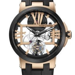 Ulysse Nardin Executive Skeleton Tourbillon in Pink Gold