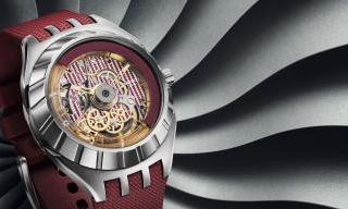 Swatch presents an inverted automatic movement watch