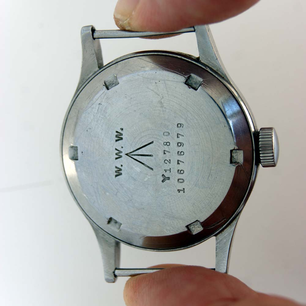 1944 Omega Dirty Dozen with the W.W.W. engraving on the case back
