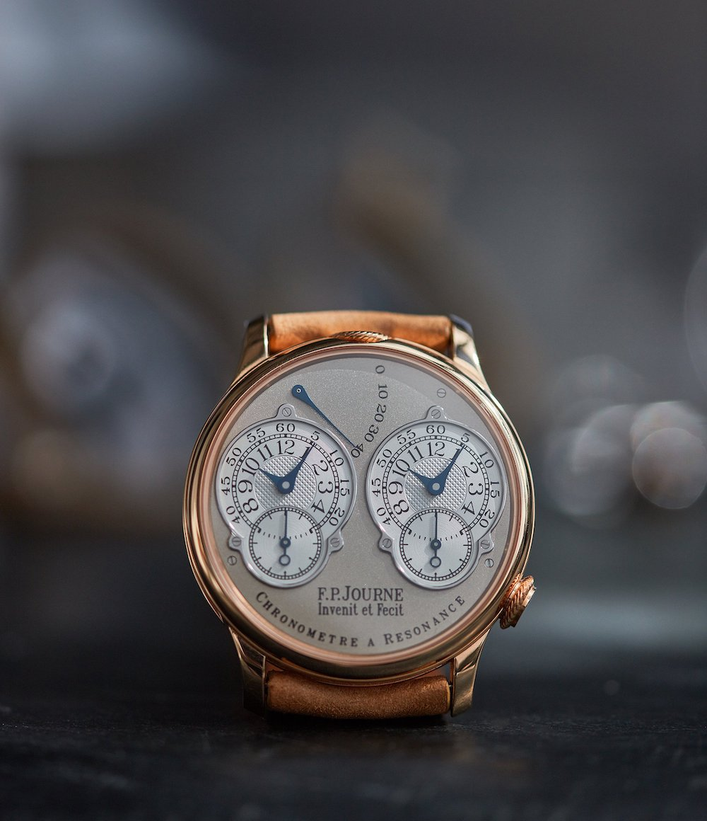 A Collected Man is particularly renowned for its selection of F.P. Journe models, such as the pink gold Chronomètre à Résonance illustrated here.