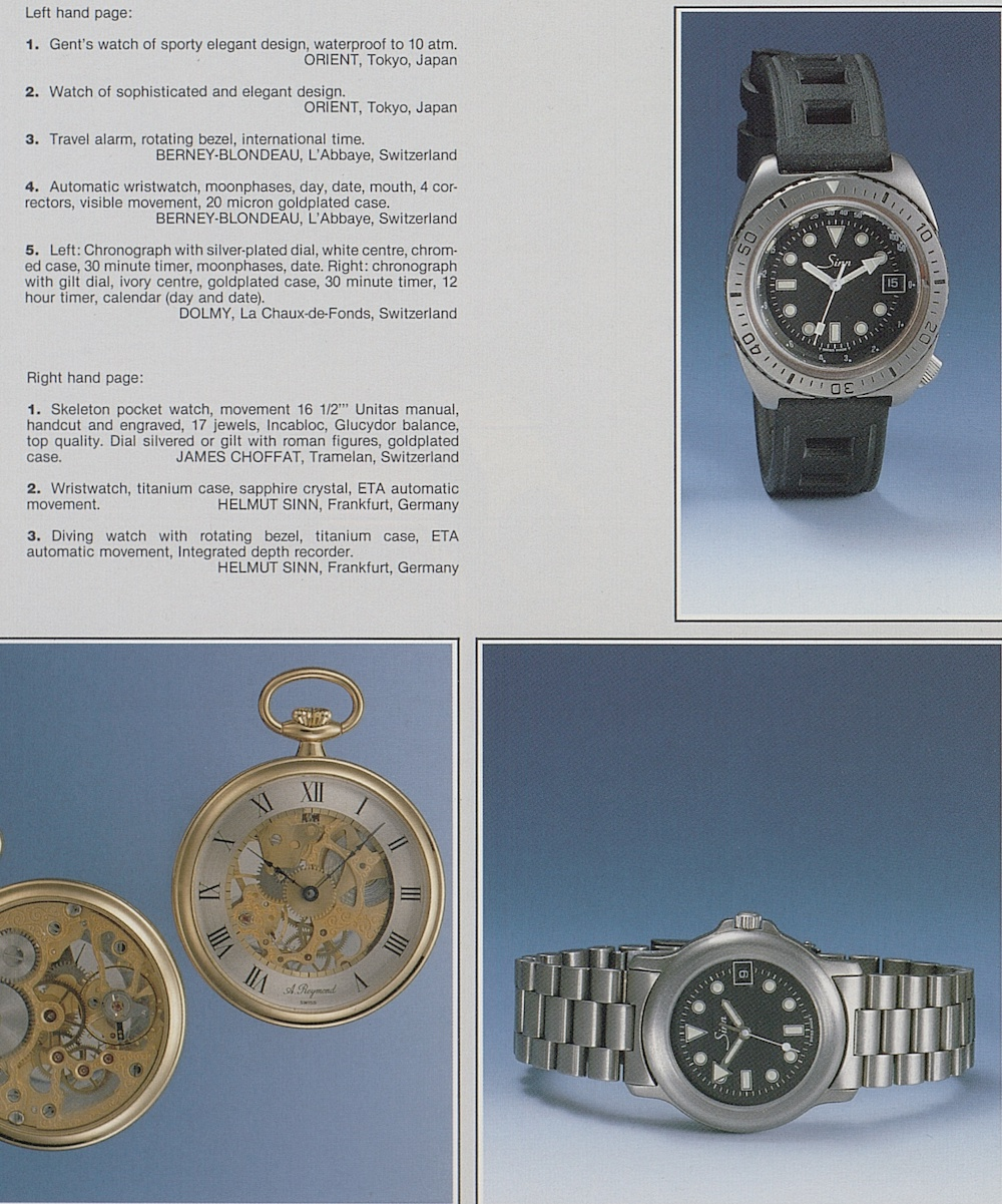 As shown in this 1987 edition of Europa Star, titanium watches have been a specialty of Sinn for a long time.