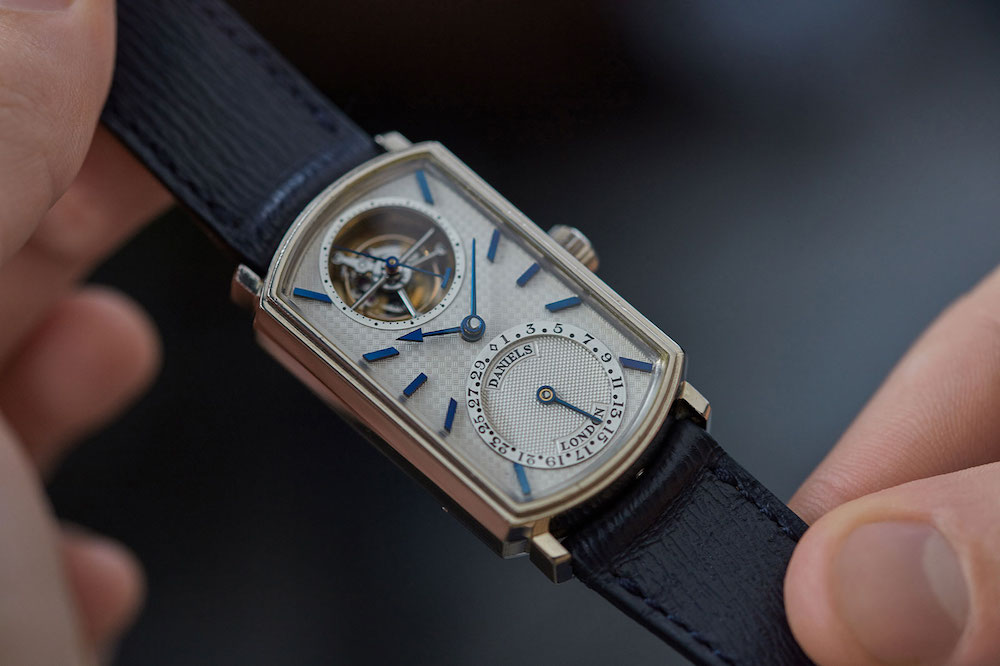 The rare Blue Tourbillon by British watchmaker George Daniels (made by his heir Roger W. Smith) was sold by A Collected Man for £1 million in 2019.