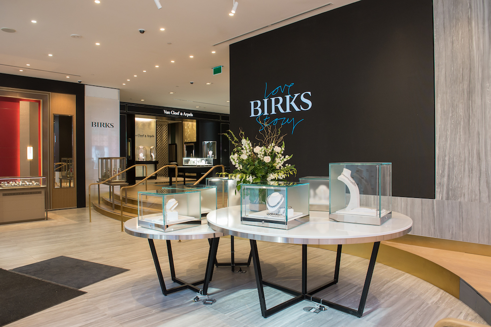 Maison Birks has 28 stores across Canada and its jewellery collections are available in 63 stores in North America and the United Kingdom.