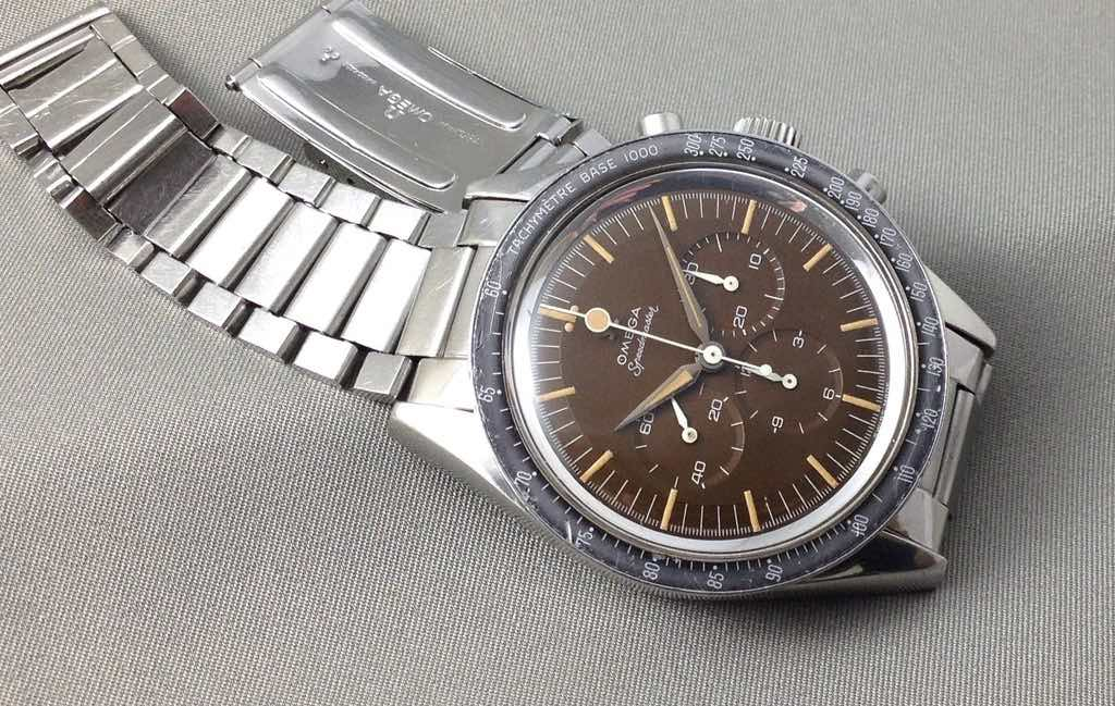 Chocolate dial on an Omega Speedmaster CK2998-2