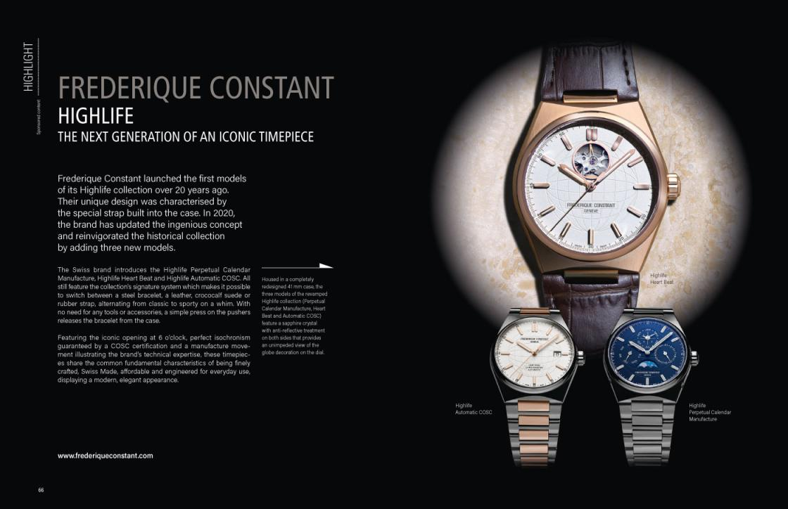 Frédérique Constant: relaunch of the Highlife collection
