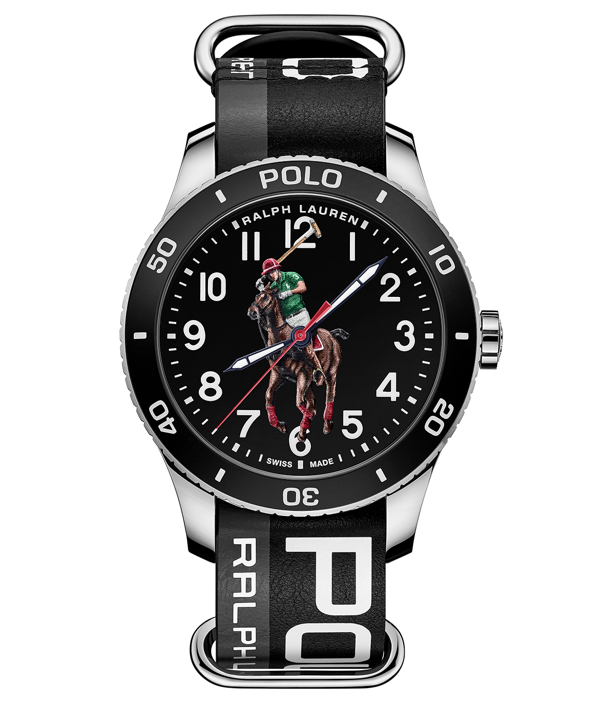 Ivy League classics, time-honoured English haberdashery, downtown styles and all-American sporting looks are the worlds that Ralph Lauren conjured up when he named his company Polo in 1967. These themes are reflected in the new Polo Watch line, with its original reinterpretation of the famous Ralph Lauren logo, printed in 3D with several layers of colour.