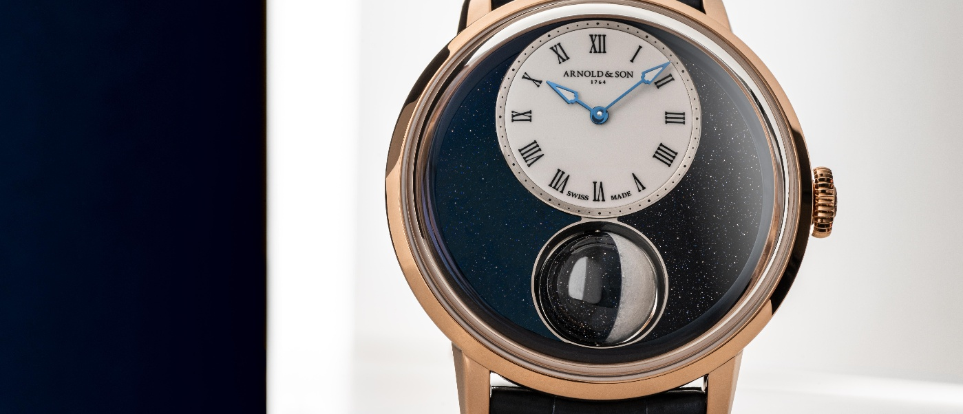 Arnold & Son: the largest moon ever in a wristwatch
