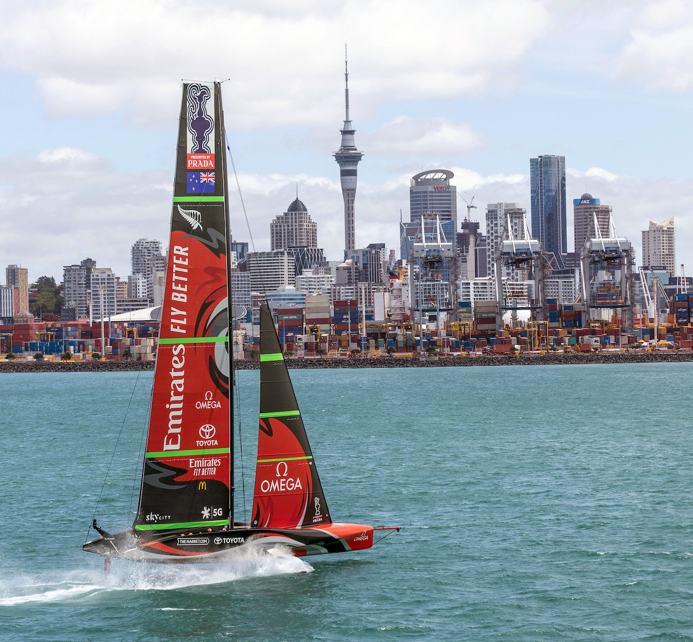 Omega in the starting blocks for the 36th America's Cup