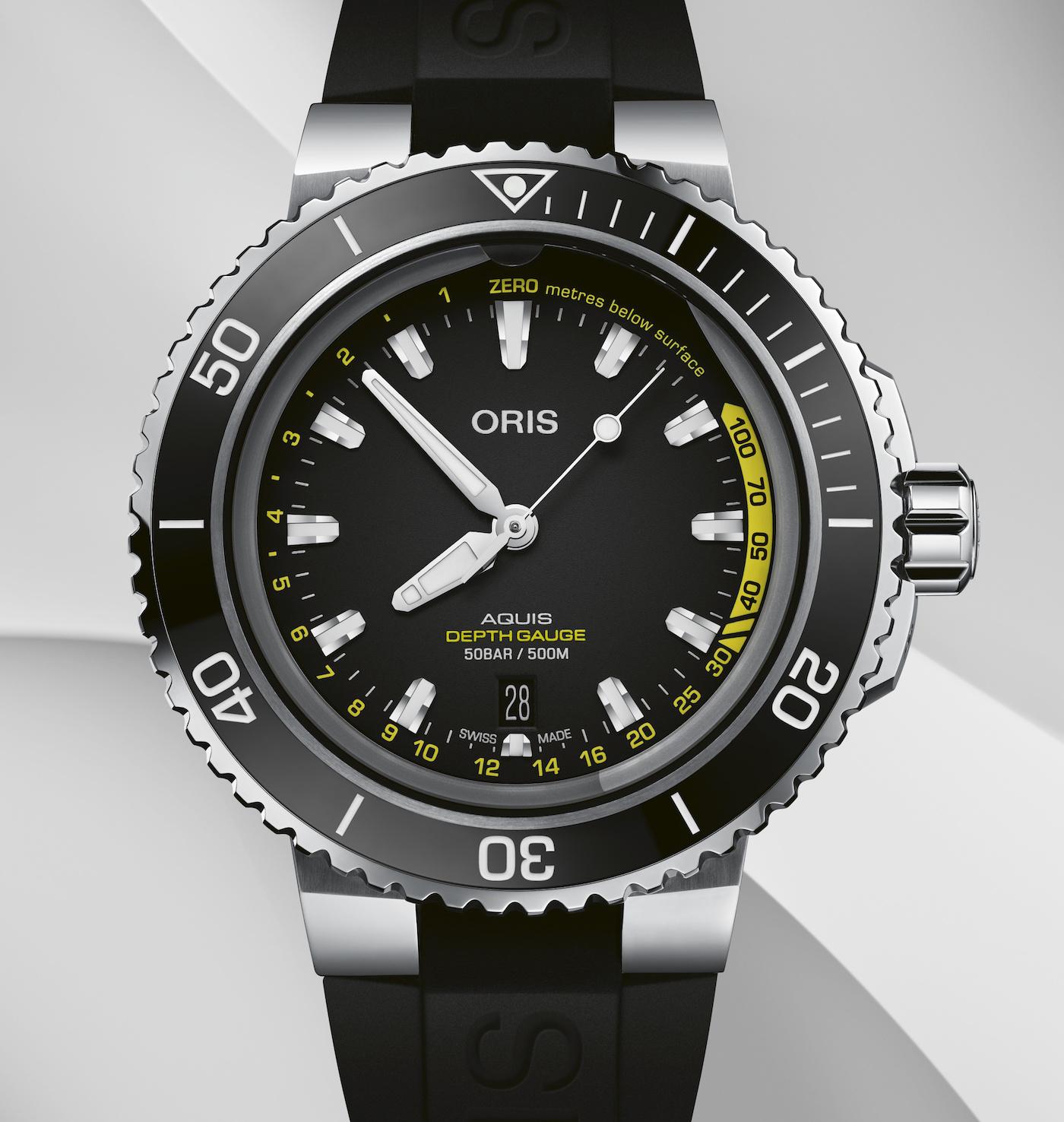 Oris: back into the deep with the Aquis Depth Gauge
