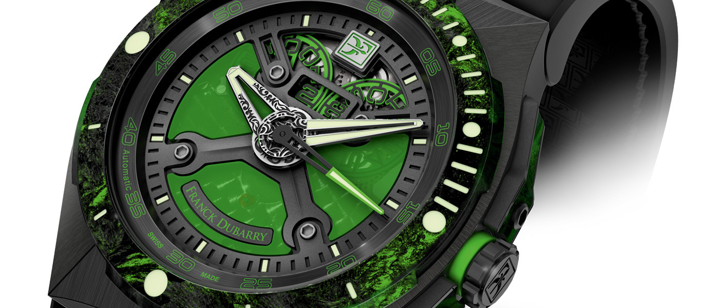 Franck Dubarry Diver Green Carbon
