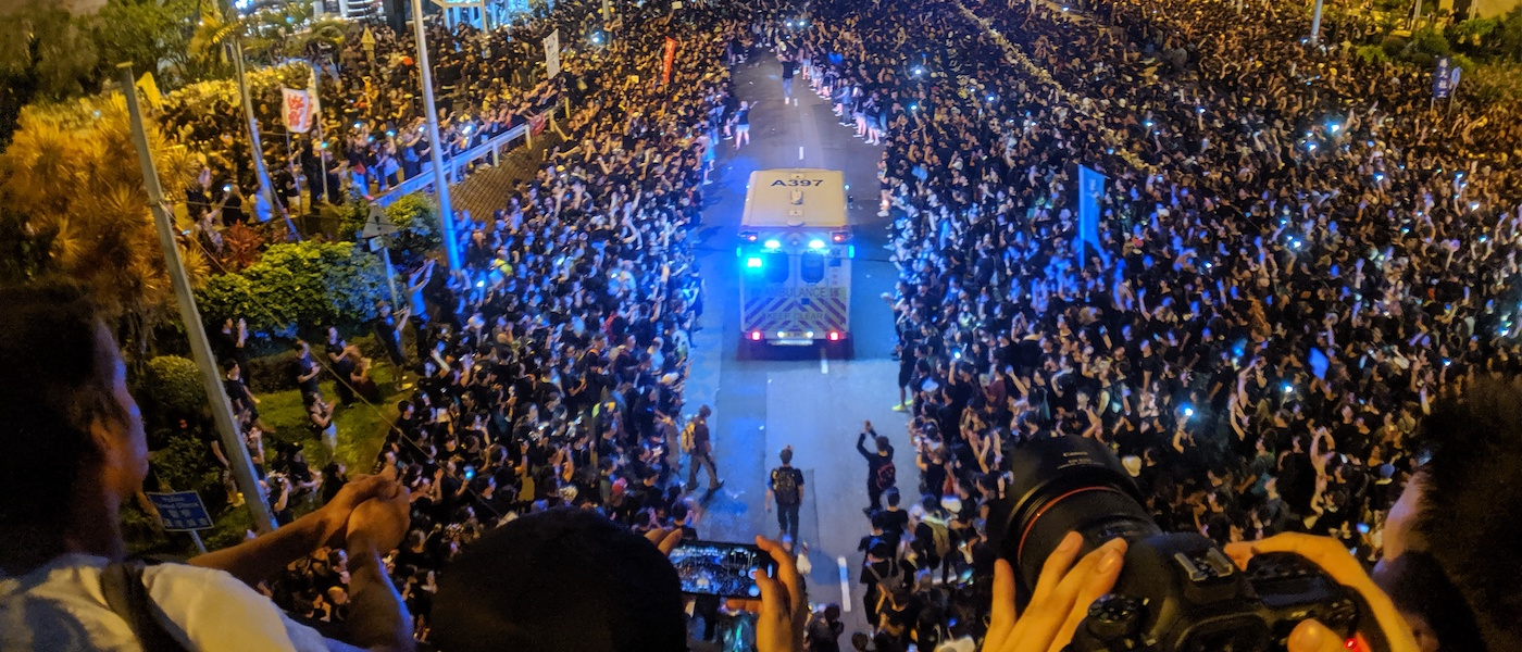 Report on unrest in Hong Kong