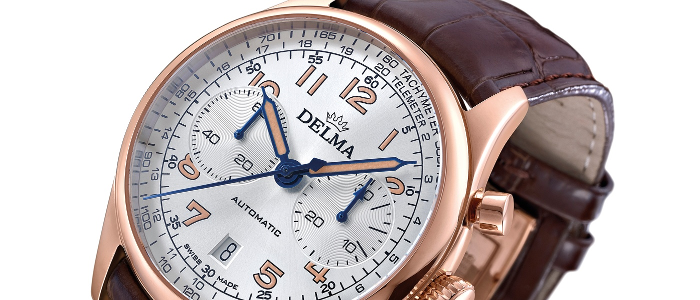 A limited edition of the Delma Heritage Chronograph