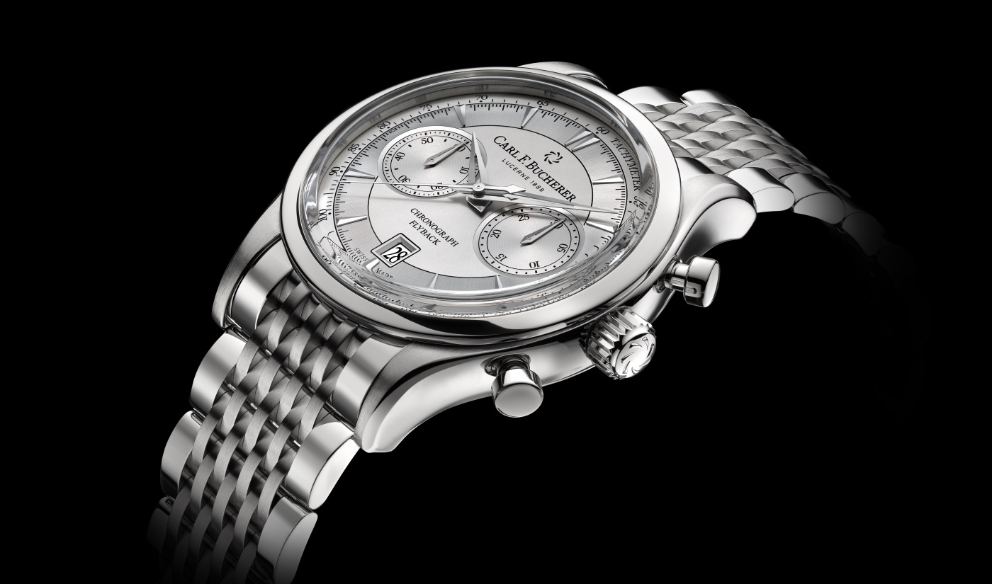 Carl_F_Bucherer_maneroflyback_with_metal_bracelet_and_white_dial-_Europa_Star_watch_magazine_2020