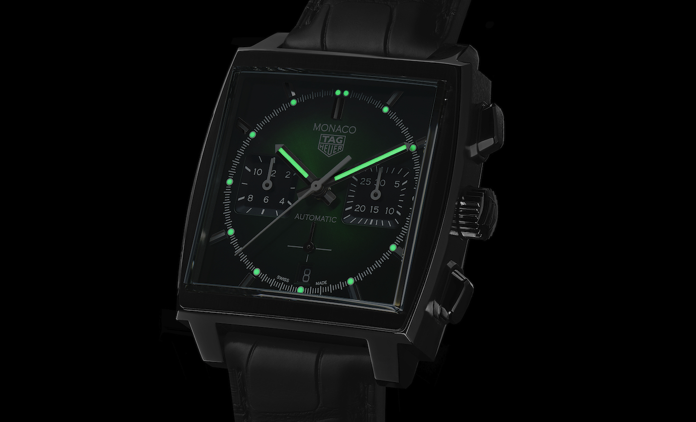 TAG Heuer introduces a Monaco with green dial