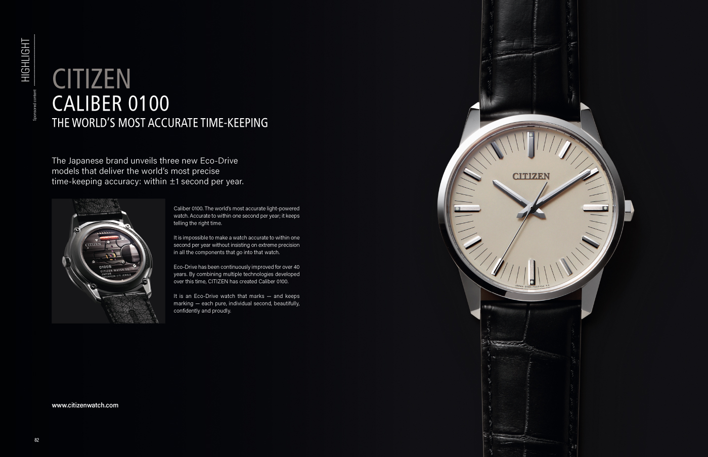 Citizen Caliber 0100: the world's most accurate timekeeping