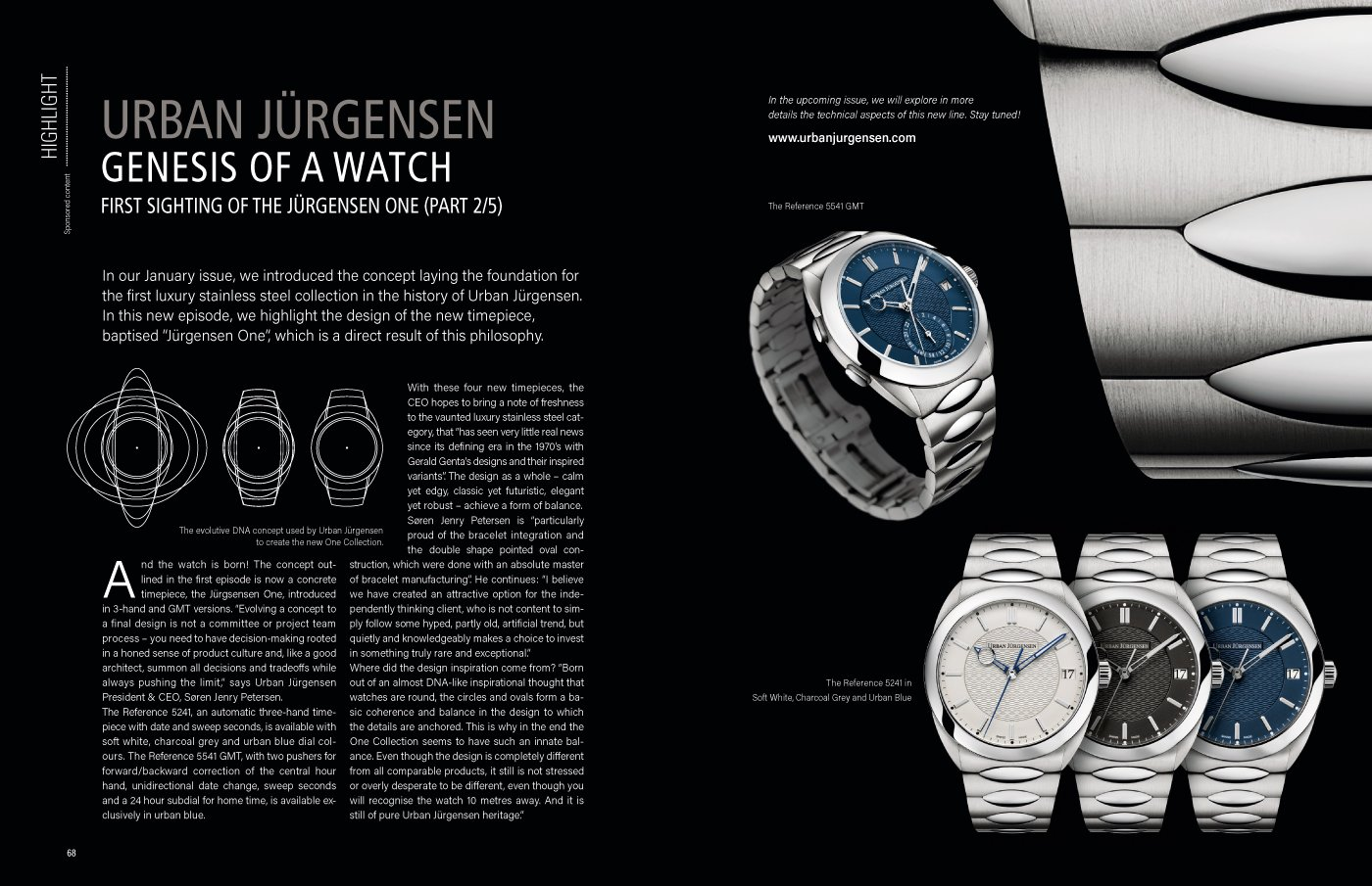 Urban Jürgensen: genesis of a watch