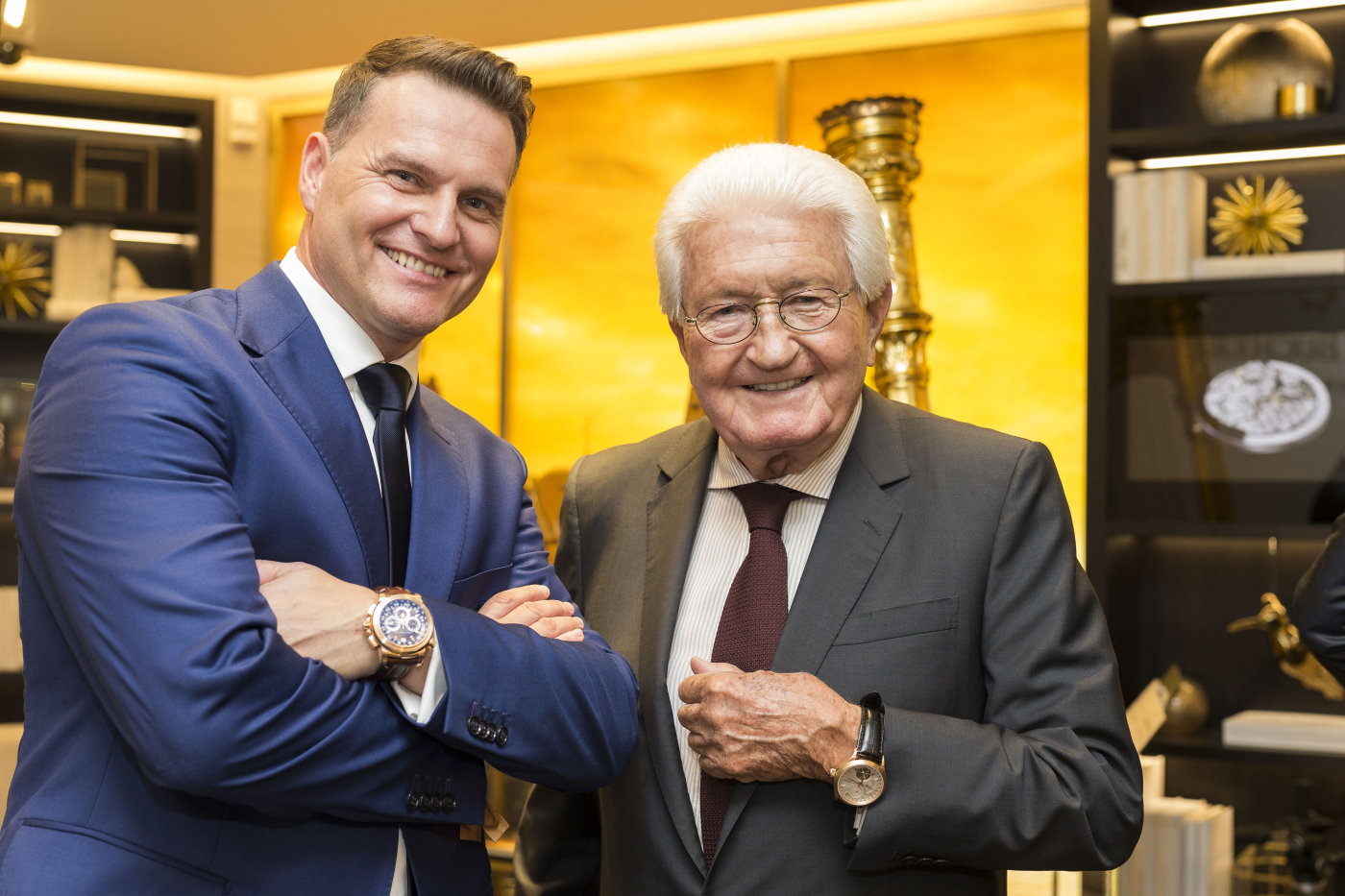 Sascha Moeri and Jörg G. Bucherer: the brand, founded in 1888, is one of the few family-owned Swiss watch manufacturers to have been run by the founding family continuously to this day.