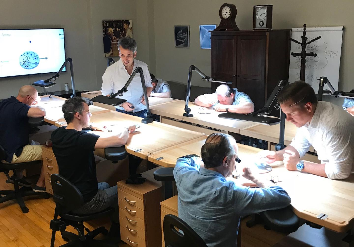 A training class of the Horological Society of New York