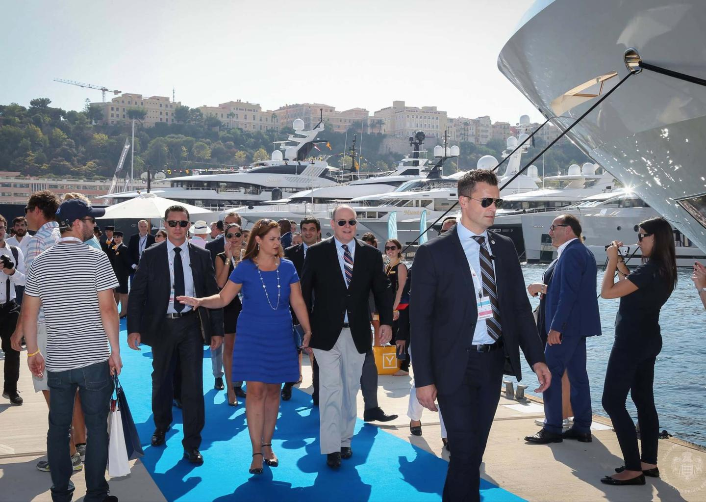 Official visit of Prince Albert II to the Monaco Yacht Show