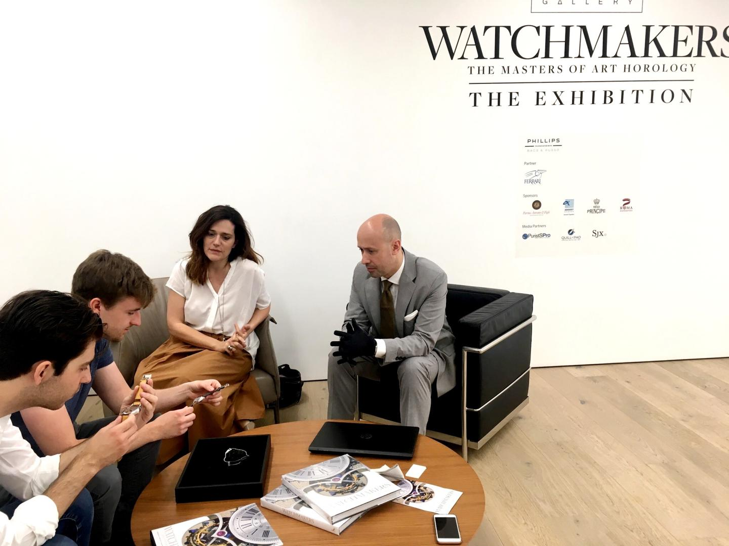 Phillips hosted the Independent Watchmakers Exhibition world tour terminating in London. My millennial watch-enthusiast guests had the privilege of a private viewing of the masterpieces with the exhibition owner, Mr Claudio Proietti of Maxima Gallery.