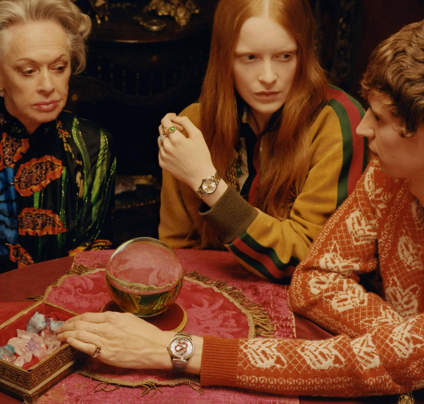 Gucci's new campaign visual featuring Tippi Hedren