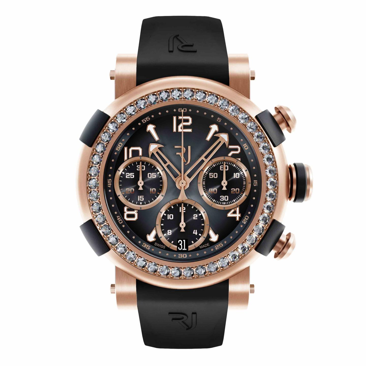Arraw Chronograph Gold diamonds
