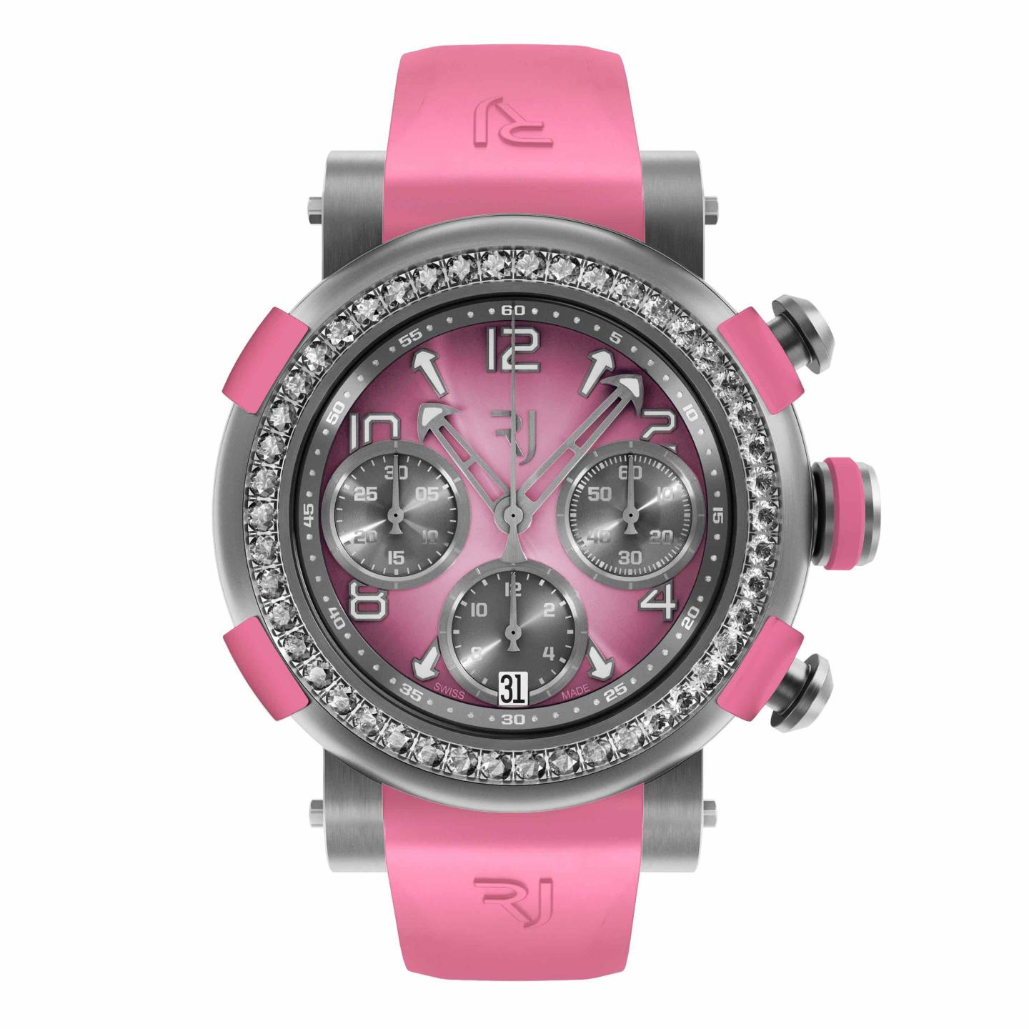 Arraw Chronograph titanium pink diamonds