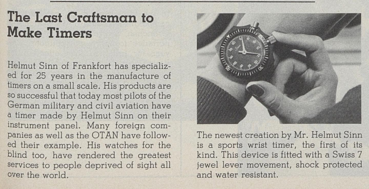 In 1982, Europa Star already reported about the company started by Helmut Sinn.