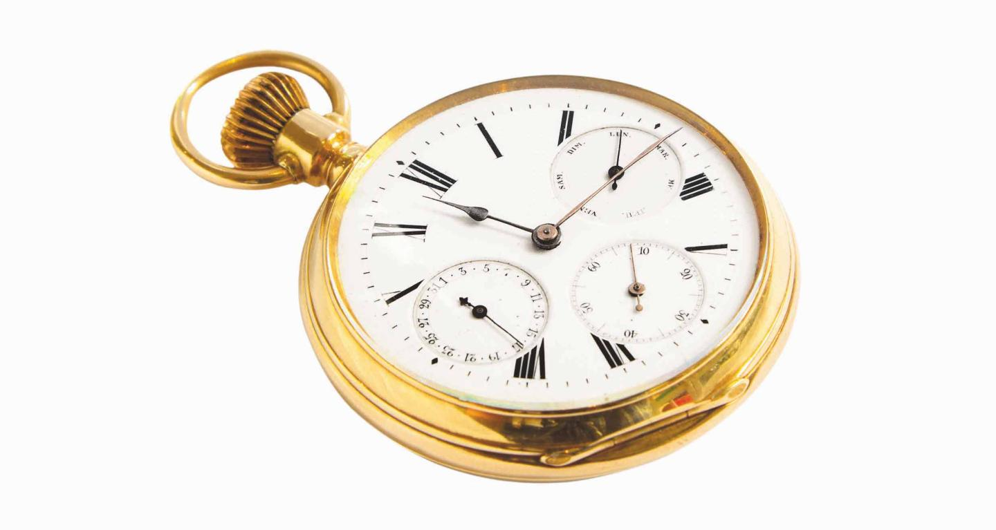 A 19th century Carl Suchy & Söhne pocket watch
