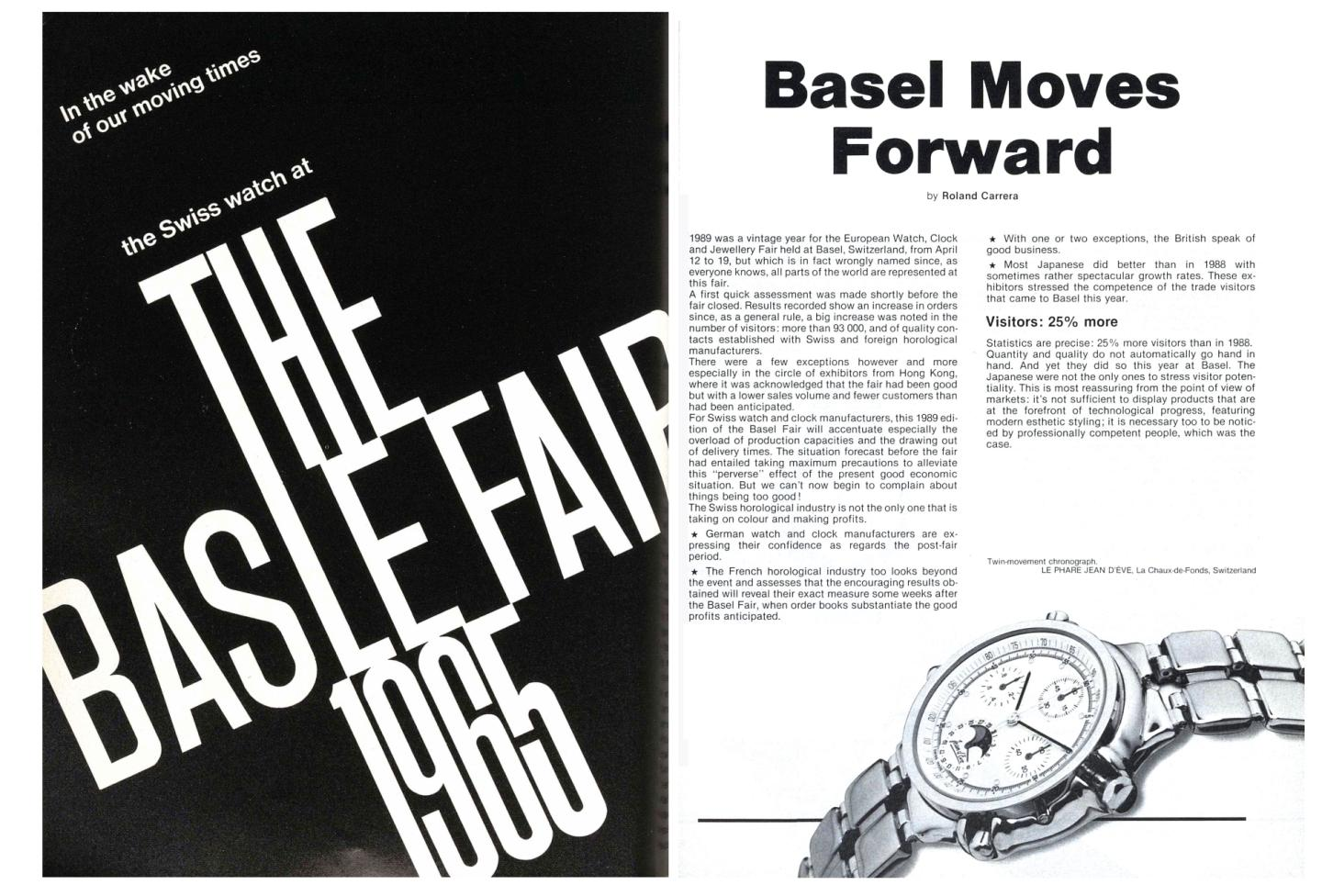 A selection of archive pieces from Europa Star about the Basel fair (our publication has been an exhibitor for over 80 years)
