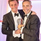 Bremont founders Nick (left) and Giles English with the winner's trophy