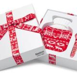 The special gift packaging for the Swatch Red Knit