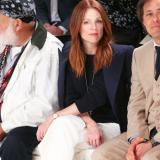 Julianne Moore wearing the Ralph Lauren Slim Classique Timepiece