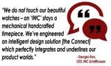 Monday's QUOTABLE MOMENT: CEO Georges Kern on the new IWC Connect