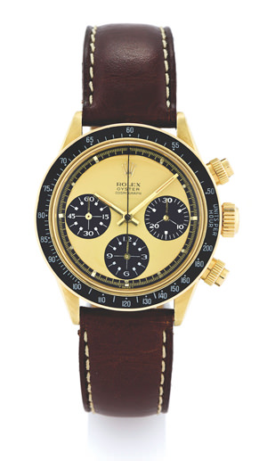 Rolex Ref. 6263 Gold Daytona Paul Newman prototype with lemon dial and graphics