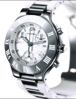 21 CHRONOSCAPH BLANCHE by Cartier