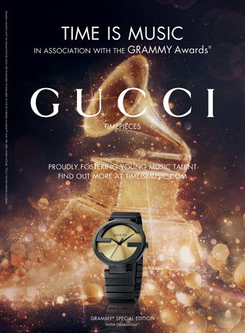 Gucci Launches Grammium Timepiece for the 56th Grammy Awards®