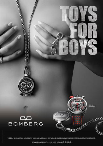 """Toys for Boys"" Advert by Bomberg"