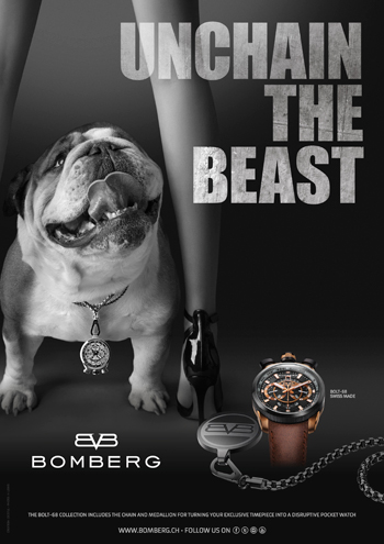 """Unchain the Beast"" Advert by Bomberg"