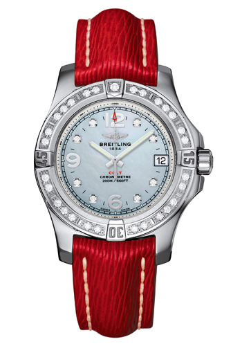 Colt 36 by Breitling (with leather strap with diamond-set bezel)