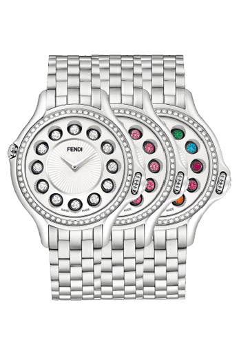Fendi Crazy Carats (F107034000B0T05) featuring a new dial to emphasize the wearer's gemstone choice.