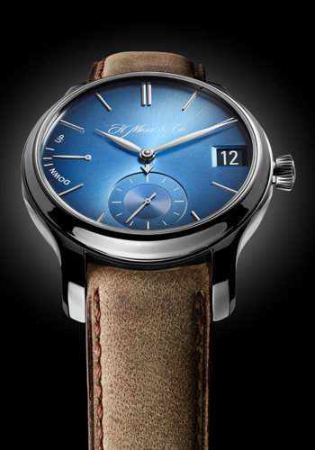 Endeavour Perpetual Calendar Funky Blue by H. Moser & Cie. (Front)