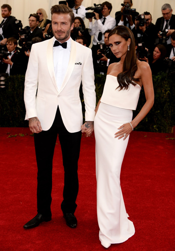 Victoria Beckham wearing Jacob & Co jewellery at the MET Gala 2014