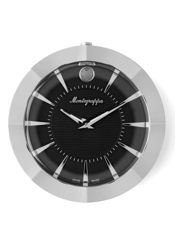 NeroUno Table Clock (90mm Diameter - Black Dial)