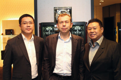 Christian Zorweg, Tempo Luxe managing director Jimmie Tay and Sales Manager Max Goh