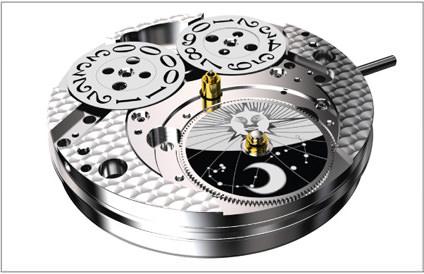 Uhrwerk TECHNOTIME 7531 B NOS Big Date movement TT
